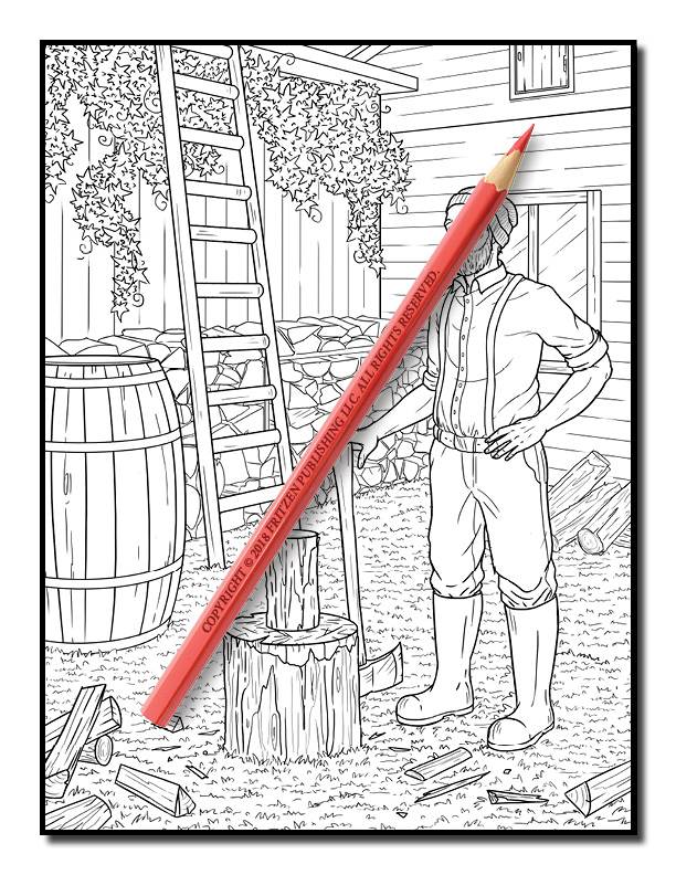 Country Farm Coloring Book   Country Farm Pages for Adults