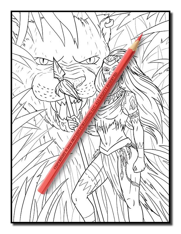 dark fantasy coloring pages - photo#33