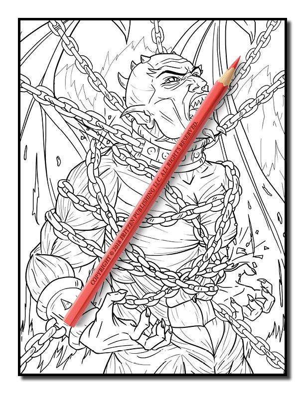 dark fantasy coloring pages - photo#25