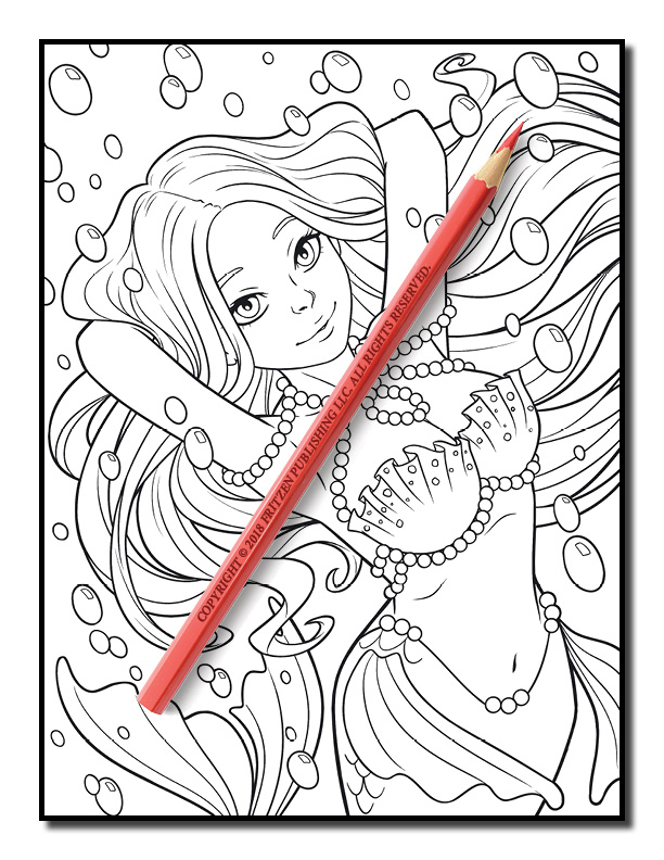 Mermaid Coloring Book | Free Mermaid Pages for Adults | PDF