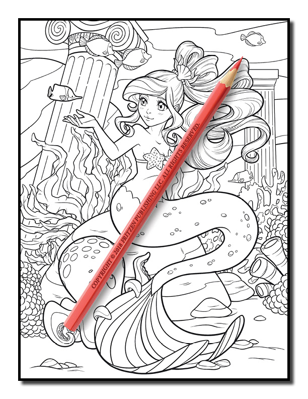 Mermaid Coloring Book Free Mermaid Pages For Adults Pdf