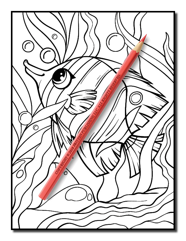 Ocean Coloring Book | Free Ocean Coloring Book Pages for Adults | PDF