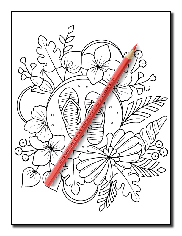 Summer Coloring Book Flower Coloring Pages For Adults
