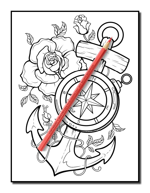 Tattoo Coloring Book Volume 2 Tattoo Coloring Pages For Adults