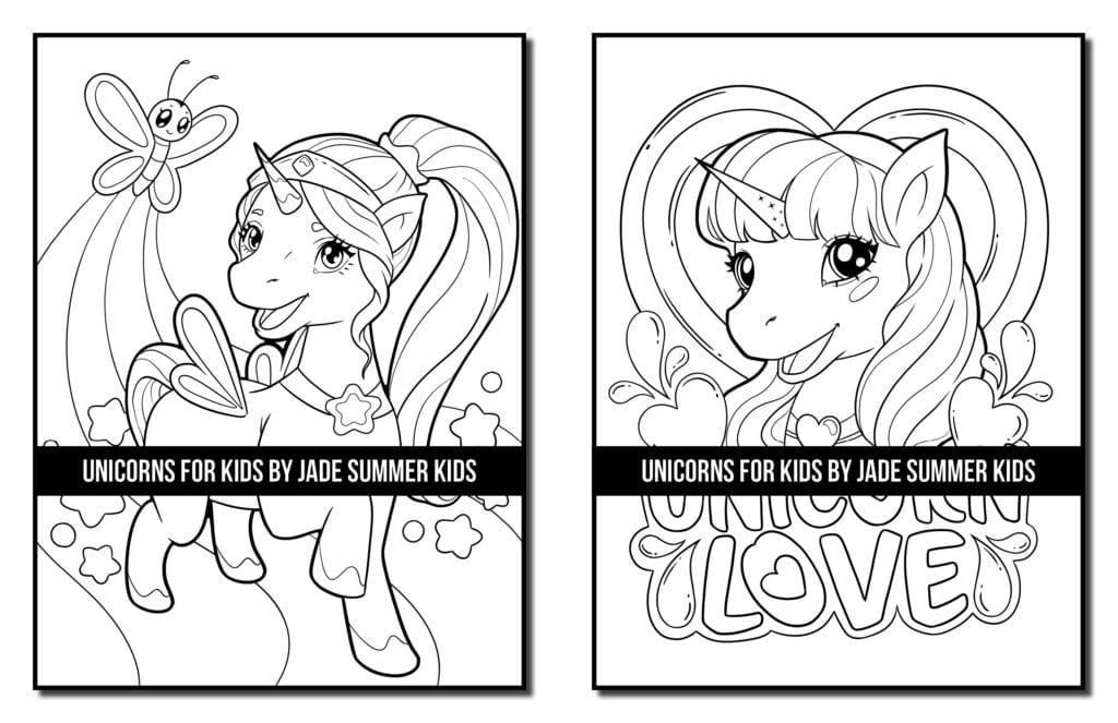 Unicorns For Kids Coloring Book Paperback Jade Summer